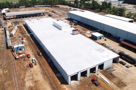 We sealed this roof with AldoCoat 384 urethane coatings.